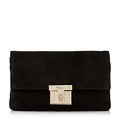 Dune - Black 'Birchin' square lock clutch bag