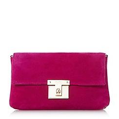 Dune - Pink 'Birchin' square lock clutch bag