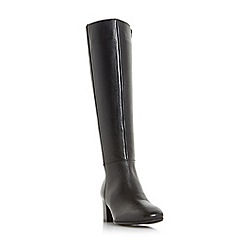 Dune - Black 'Tarak' block heel knee high boots