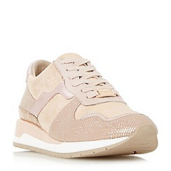 Dune - Light pink 'Elena' lace up running trainers