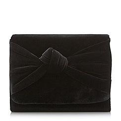 Head Over Heels by Dune - Black 'Bernette' knot detail clutch bag
