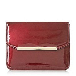 Head Over Heels by Dune - Maroon 'Betsi' mix material flap over bag