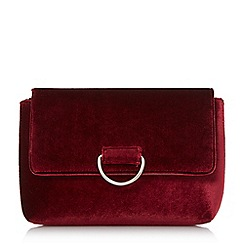 Head Over Heels by Dune - Maroon 'Brilana' fold over clutch bag