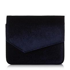 Head Over Heels by Dune - Navy 'Bonne' structured clutch bag