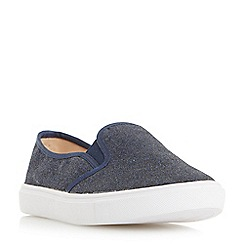 Head Over Heels by Dune - Navy 'Elsaa' round toe slip on trainers