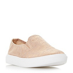 Head Over Heels by Dune - Rose 'Elsaa' round toe slip on trainers