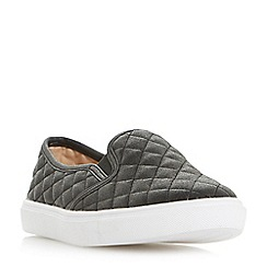 Head Over Heels by Dune - Black 'Elsaa q' quilted slip on trainers
