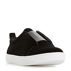 Head Over Heels by Dune - Black 'Effi' casual slip on trainers