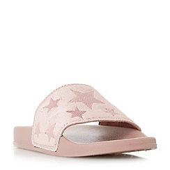 Head Over Heels by Dune - Light pink 'Linders' star pool sliders