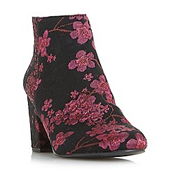 Head Over Heels by Dune - Multicoloured 'Orlina' floral jacquard ankle boots