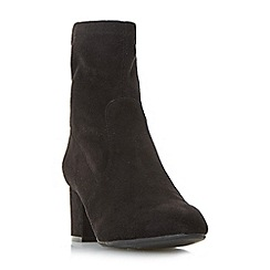 Head Over Heels by Dune - Black 'Olga' ankle sock boots