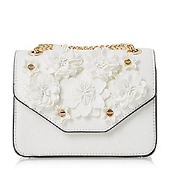 Dune - White 'Serafina-micro' floral applique micro bag