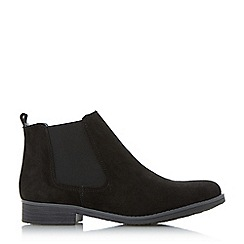 Dune - Black 'Prompts' faux fur lined chelsea boots