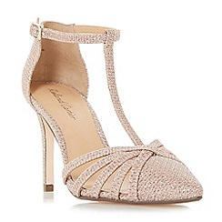 Roland Cartier - Silver 'Dazzled' strappy t-bar court shoes