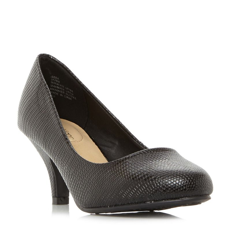 Roberto Vianni - Black Abba Kitten Heel Court Shoes