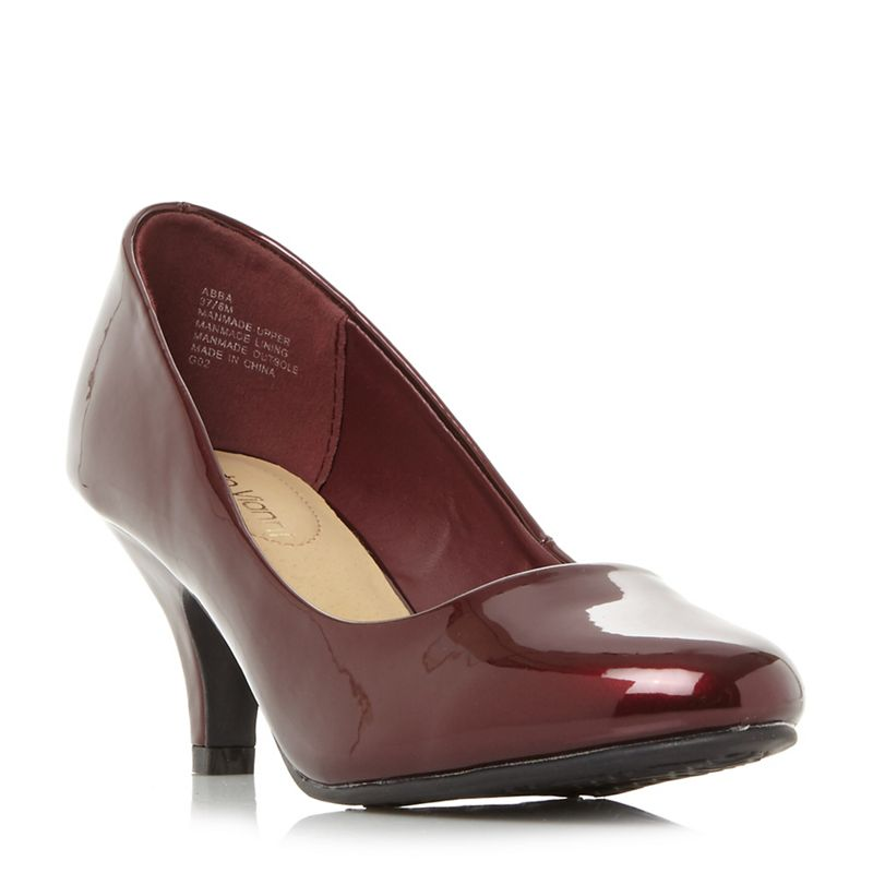 Roberto Vianni Maroon Abba kitten heel court shoes