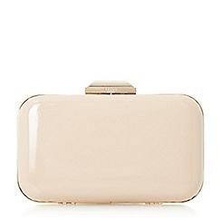 Dune - Natural 'Beverlie' hard case box clutch bag