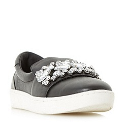 Dune - Black 'Endeavour' slip on jewelled embellished trainers
