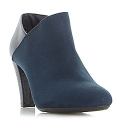 Roberto Vianni - Navy 'Opollo' heeled ankle boots