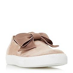 Dune - Natural 'Emelia' bow trim slip on shoes