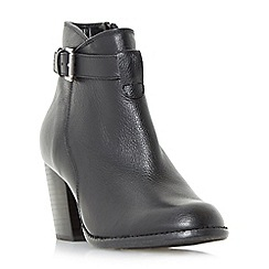 Roberto Vianni - Black 'Plume' strap detail heeled ankle boots