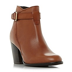 Roberto Vianni - Tan 'Plume' strap detail heeled ankle boots