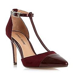 Roberto Vianni - Maroon 'Cecilia' point toe t-bar court shoes