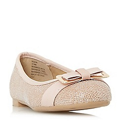 Head Over Heels by Dune - Gold 'Honor' bow detail ballerina shoes