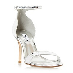 Dune - Silver 'Mortimer' two part ankle strap sandals