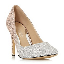 Head Over Heels by Dune - Rose 'Avandra' ombre glitter court shoes