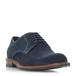Dune - Navy 'Beethoven' nubuck plain gibson shoes