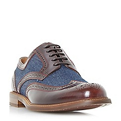 Dune - Dark red 'Pilgrim' combination brogue shoes