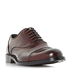 Dune - Maroon 'Priest' heavy toecap oxford shoes