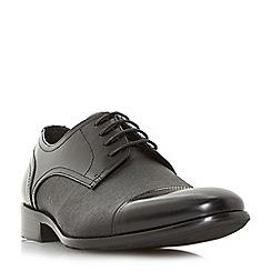 Dune - Black 'Proton' toecap detail saffiano gibson shoes