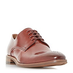 Dune - Red 'Placebo' natural sole gibson shoes