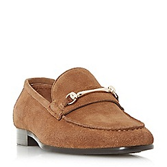 Dune - Tan 'Pinocchio' classic snaffle loafer shoes