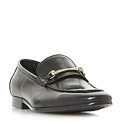Dune - Black 'Pinocchio' classic snaffle loafers shoes