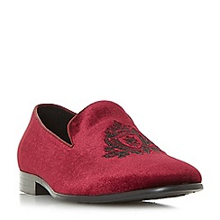 Dune - Maroon 'Pisa' smart slipper cut shoes