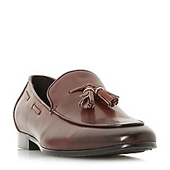 Dune - Brown 'Preacher' smart double tassel loafers