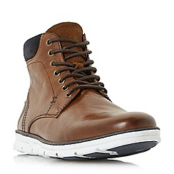 Dune - Tan 'Courtside' wedge sole lace up boots
