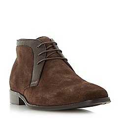 Dune - Brown 'Monroe' smart lace up boots