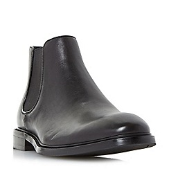 Dune - Black 'Mencia' natural sole leather chelsea boots