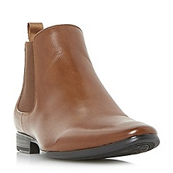 Dune - Tan 'Malbec' classic leather chelsea boots