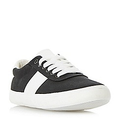 Head Over Heels by Dune - Black 'Eleanor' chunky sole lace up trainers