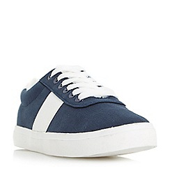 Head Over Heels by Dune - Navy 'Eleanor' chunky sole lace up trainers
