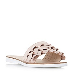 Dune - Light pink 'Laria' ruffle mule sandals