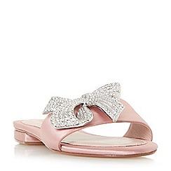 Dune - Light pink 'Nixi' jewelled bow mule sandals