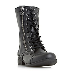 Head Over Heels by Dune - Black 'Rachey' lace up calf boots