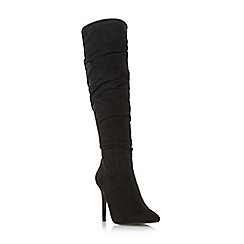 Head Over Heels by Dune - Black 'Sambaa' ruched point toe boots