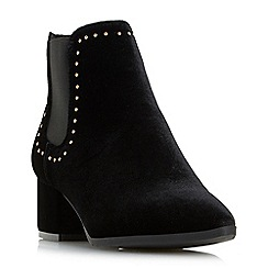 Head Over Heels by Dune - Black 'Penly' studded chelsea ankle boots